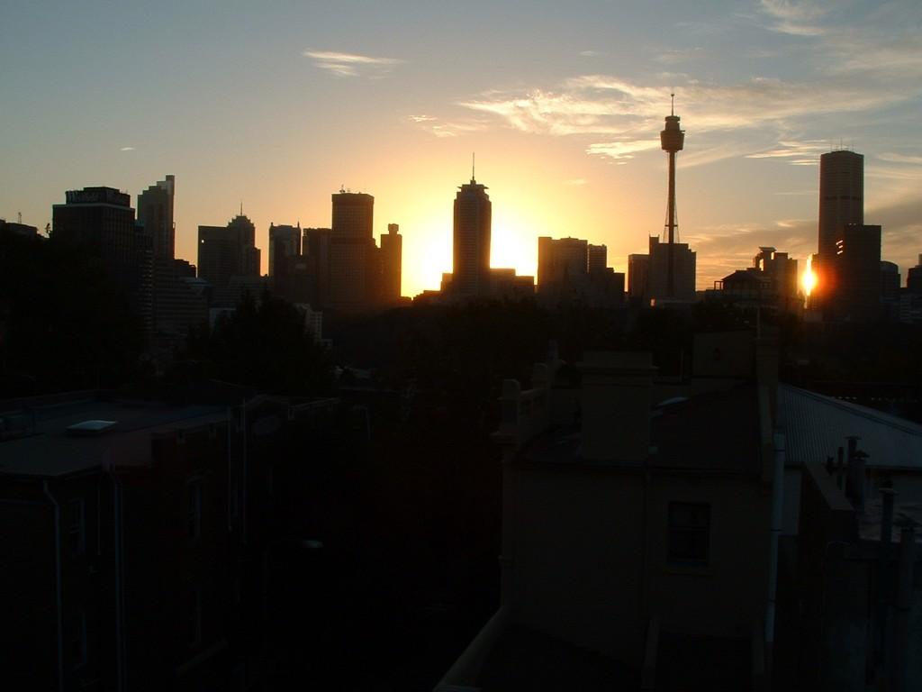 Sydney Skyline im Sonnenuntergang